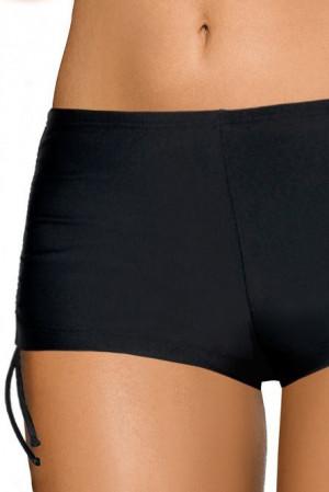 Plavkové černé kalhotky šortkové