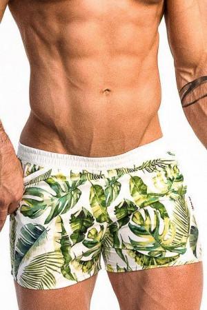 Pánské plavky Playo Palm zelené