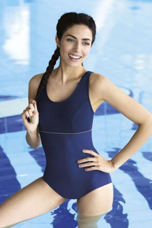 Jednodílné luxusní plavky Alyssa tmavě modré
