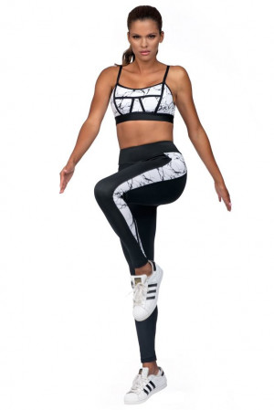 Fitness legíny Amy mramorované