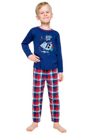 Klučičí pyžamo Leo tmavě modré modrá