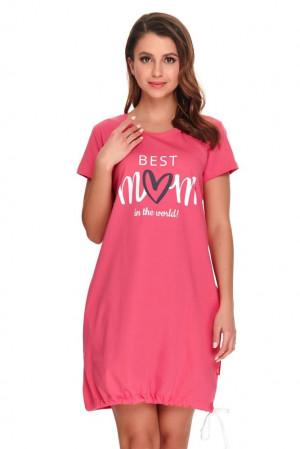 Kojicí noční košile Best mom 2 růžová růžová
