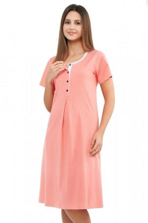 Noční košile Karmen meruňková růžová
