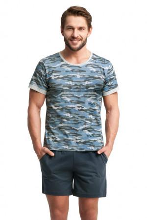 Pánské pyžamo Army modré modrá