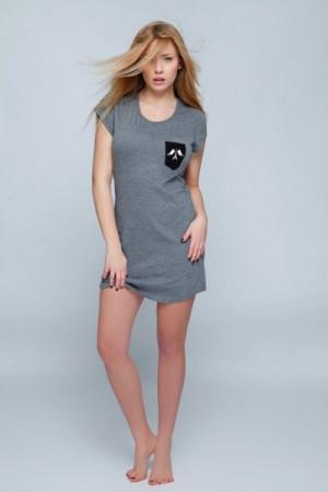 Sensis Paris Noční košilka L šedá