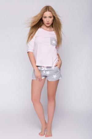 Sensis Camille Dámské pyžamo XL růžovo-šedá