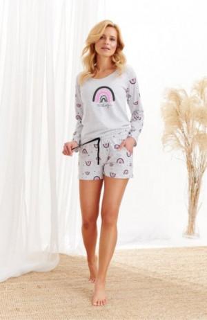 Taro Mocca 2439 Z'20 Dámské pyžamo S světle šedá
