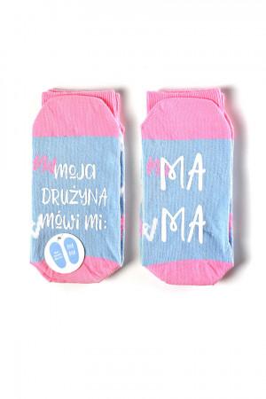 Ponožky se životními instrukcemi SOXO - MOJA DRUŻYNA M (