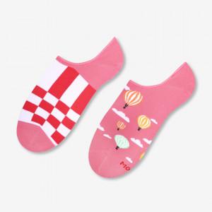 Dámské asymetrické ponožky 005 zelená/ananasy 35/38