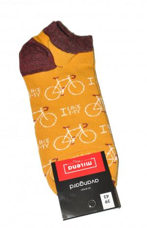 Pánské vzorované kotníkové ponožky Milena Avangard 1108 mix barev-mix vzorů 44-46