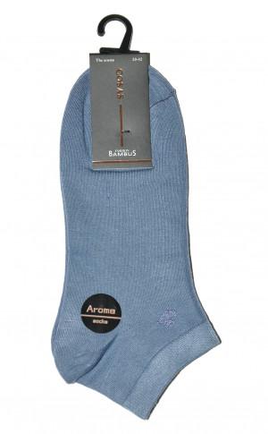 Pánské kotníkové ponožky Ulpio Cosas LB-18 Aroma Bambus bílá 43-46