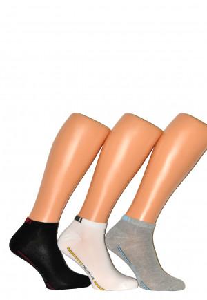 Pánské kotníkové ponožky WiK Premium Sox Sneaker art.16490 bílá 43-46