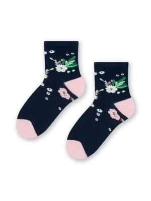 Dámské ponožky Steven Cotton Candy art.033 modrá 26-28