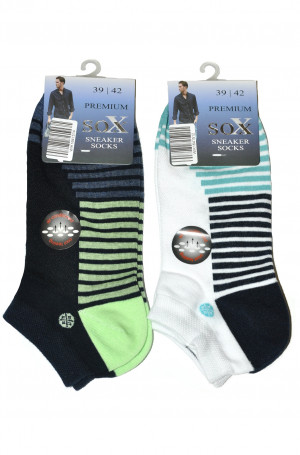 Pánské kotníkové ponožky WiK 16415 Premium Sox bílá 39-42