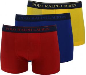 Boxerky 3 psc 714662050040 žlutočervenomodrá - Ralph Lauren modrá,žlutá,červená