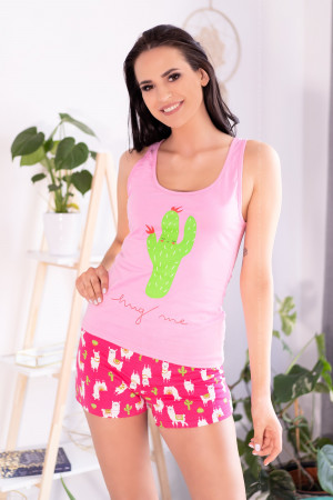 Dámské pyžamo Embrasse - LivCo Corsetti S/M Růžová