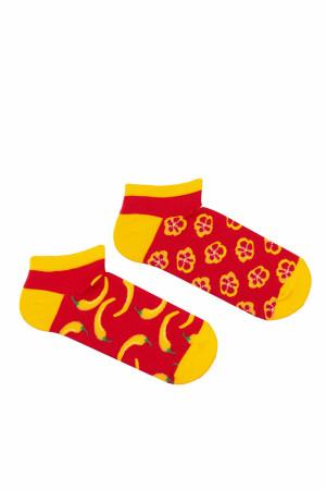 Pánské nepárové kotníkové ponožky Milena Avangard 1108 černá 39-43