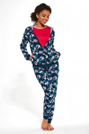 Cornette 355/243 Roxy trojdílné Dámské pyžamo S tmavě modrá