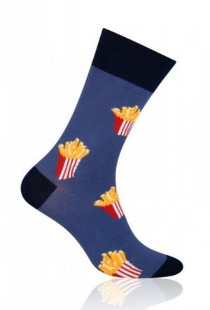 More Fastfood 079 Pánské ponožky 39-42 tmavě hnědá