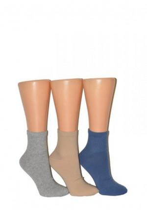 Milena 0224 Active kotníkové ponožky, Hladký 38-40 béžová
