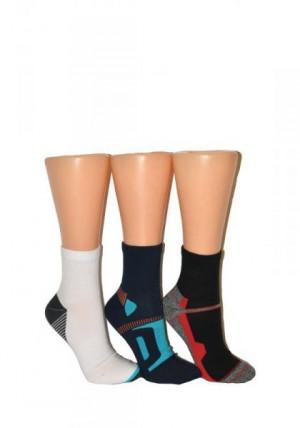 Milena 0224 Active Ponožky 44-46 světle mix vzor
