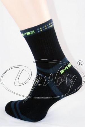 Derby Active Style Ponožky 39-41 tmavě mix vzor