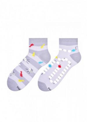 More 035 Asymetrické pánské ponožky 39-42 šedá