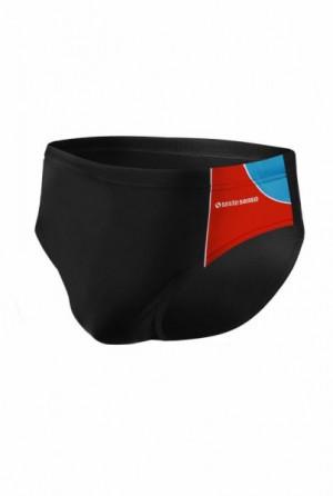 Sesto Senso BD 402 černý Pánské plavky XXL černo-červená