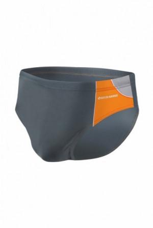 Sesto Senso BD 402 grafitový Pánské plavky XXL grafitovo (tmavě šedá) - oranžová