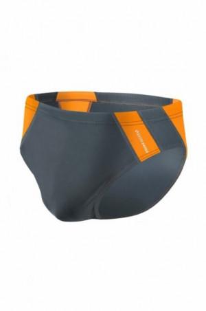 Sesto Senso BD 447 grafitový Pánské plavky XXL grafitovo (tmavě šedá) - oranžová
