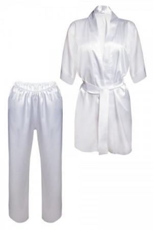 DKaren Keira bílé Dámské pyžamo L bílá