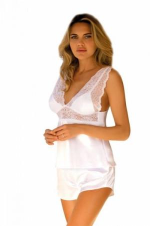 DKaren Clarisse Dámské pyžamo M bílá