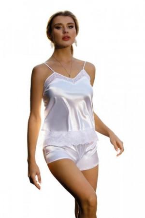 DKaren Megan bílé Dámské pyžamo L bílá