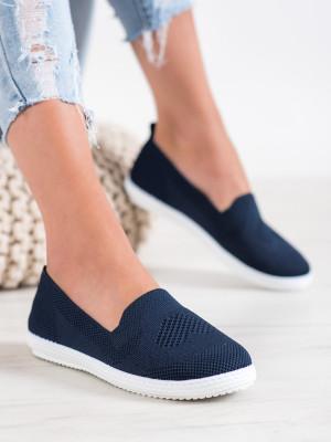 Stylové dámské modré  tenisky bez podpatku