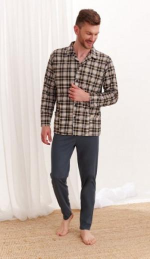 Taro Gracjan 1009 Z'20 Pánské pyžamo XXL kostka-grafitová
