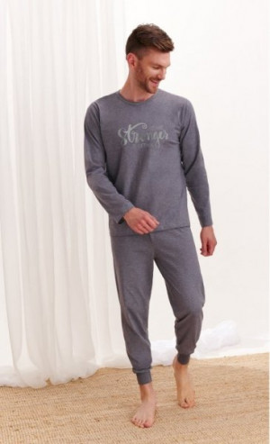 Taro Michał 2472 Z'20 Pánské pyžamo XL tmavě šedý melanž