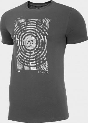 Pánské tričko 4F TSM210 Tmavě šedé