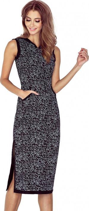 Dámské šaty 012-2 Morimia černo - bílá