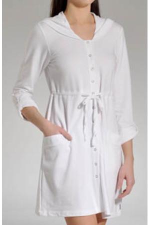 Dámský dlouhý župan YI2913044 - DKNY bílá