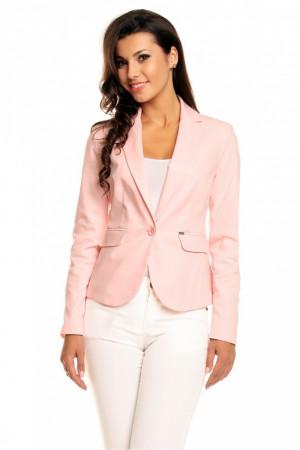 Dámské sako model 68742 - Cabba pudrovo-růžová