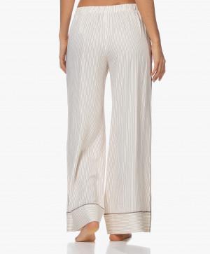 Dámské pyžamové kalhoty QS6375E-SMH béžová - Calvin Klein béžová