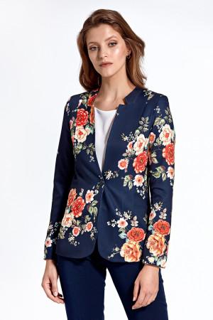 Dámské sako CZ06 - Colett tm.modrá s květy