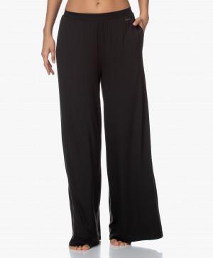 Dámské pyžamové kalhoty QS6397E-001 černá- Calvin Klein černá