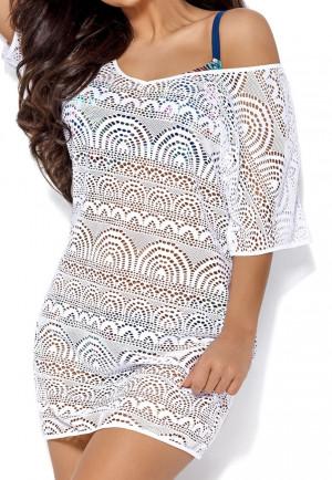 Dámské plážové šaty SP 12 WHITE bílá