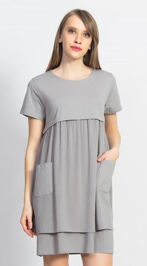 Dámské mateřské šaty Betty - Vienetta šedá