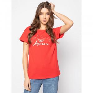 Dámské tričko 164340 0P291 00074 červená - Emporio Armani červená