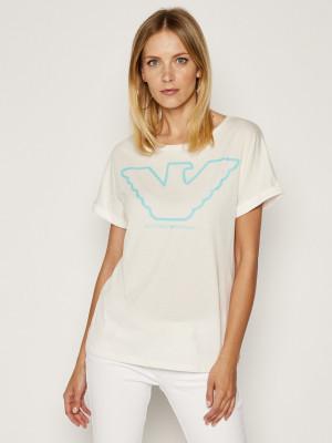 Dámské tričko 164340 0P255 00110 - Emporio Armani bílá