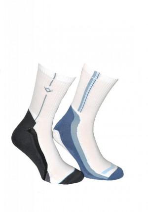Pánské ponožky Sport Line 7056 - TERJAX bílo/černá 45-47