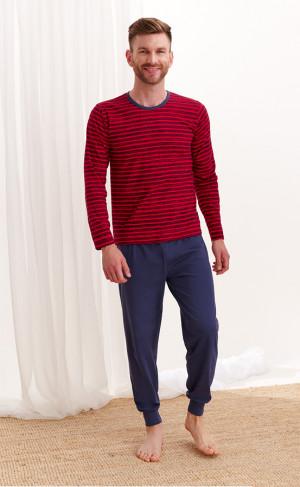 Pánské pyžamo Taro Max 372 dł/r L-2XL Z'20 červená-tmavě modrá