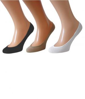 Bavlněné dámské ponožky ťapky WOMEN G černá 38-41